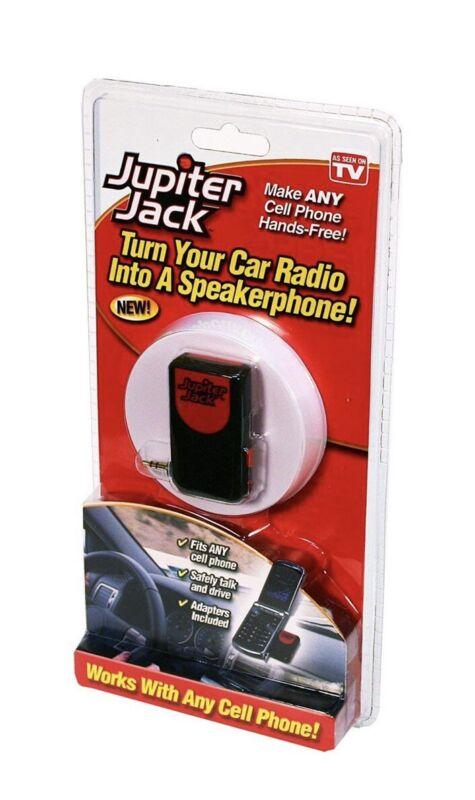 Jupiter Jack by Telebrands Turns Car Radio into Speakerphone w/ 6 Adapters New