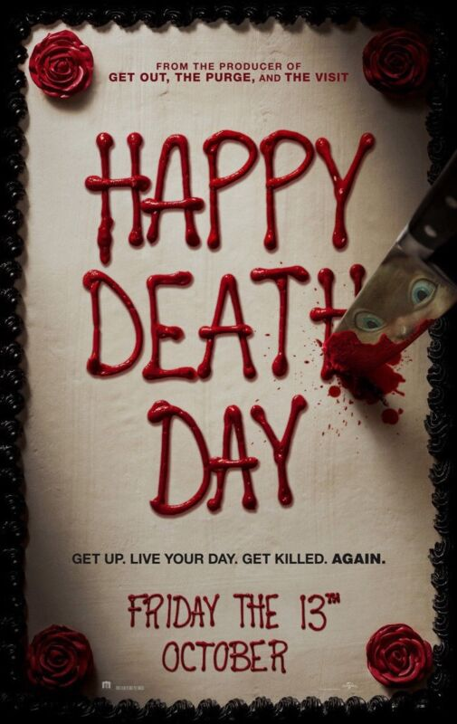 Happy Death Day Movie Poster 2 Sided Original Advance 27x40 Jessica Rothe