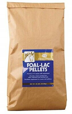 Foal Lac Pellets 40 Lb. Refill Bag Mares Milk Replacer For Orphaned Foals