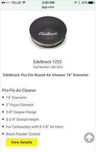 Edelbrock air cleaner and filter
