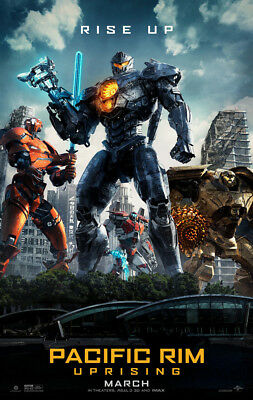 PACIFIC RIM UPRISING MOVIE POSTER 2 Sided ORIGINAL Version C MARCH 27x40  for sale  Huntington Beach
