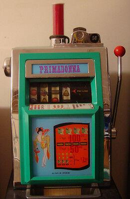 Antique Vintage Mills Primadonna 5 Cent Geisha Slot Machine 1960S