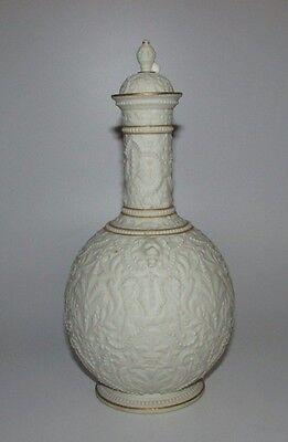 Lovely Antique 19thC Copeland Crystal Palace Art Union Parian Vase.