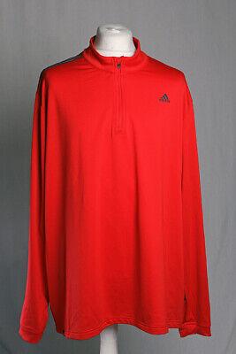 Adidas Golf Clima Technology Stretch 1/4 Zip Neck Shirt Top Red Size 2XL XXL VGC