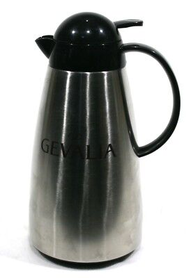 Gevalia Thermos, Stainless Steel Coffee Pot / Tea Pot - Air Seal - Excellent for sale  Shipping to India