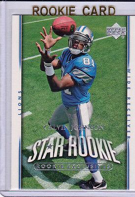 CALVIN JOHNSON 2007 Upper Deck STAR ROOKIE CARD Detroit Lions Football NFL RC Calvin Johnson Nfl
