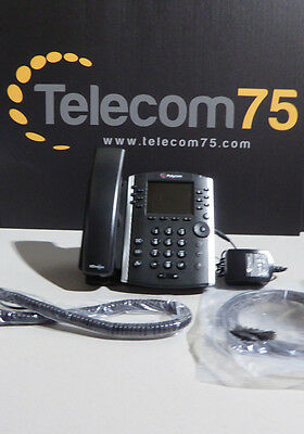Polycom VVX 410 Phone With Power Supply