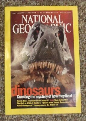 National Geographic Dinosaurs Puerto Rico Alaska Qatar Lemon Grass 2003 March