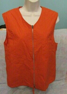 Vintage HELMUT LANG Womens Orange Vest Size 50 EUR Italy