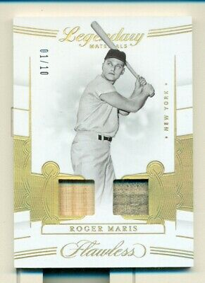 ROGER MARIS 2020 Flawless Legendary Materials Dual Jersey/Bat Gold # 01/10, 1/1?