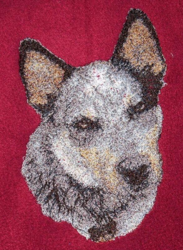 Embroidered Ladies Fleece Jacket - Australian Cattle Dog AED16215 Sizes S - XXL