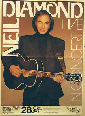 NEIL DIAMOND CONCERT TOUR POSTER 1989