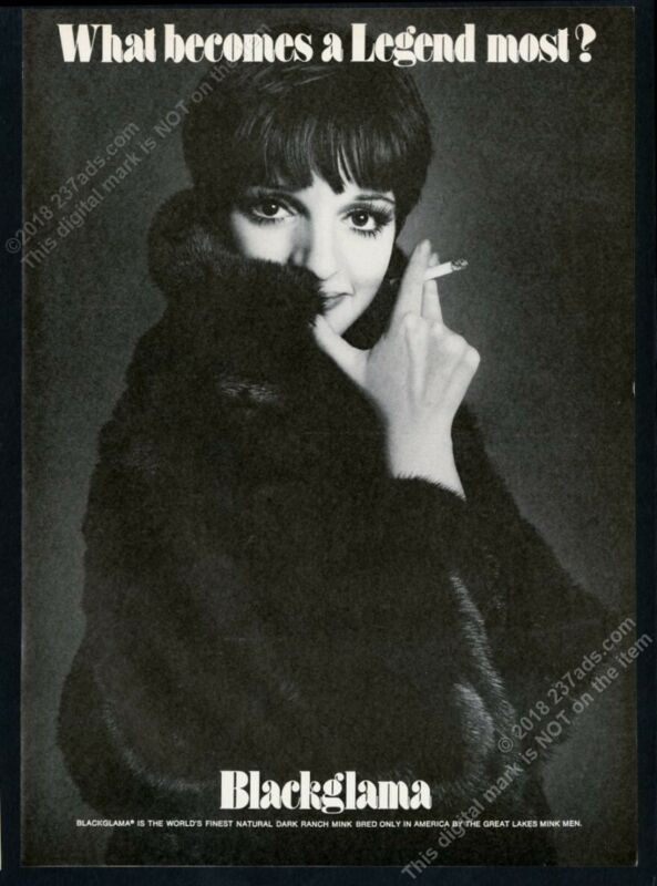1974 Liza Minnelli photo Blackglama fashion vintage print ad