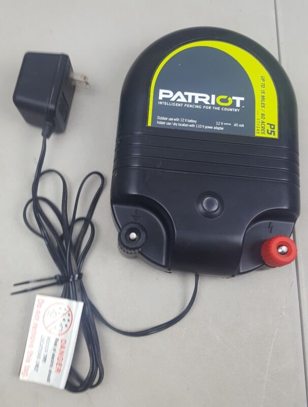 patriot p5 15 mile dual powered fence energizer