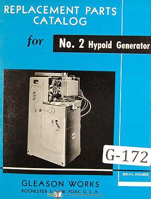 Gleason 2 Hypoid Generator Clad Parts Manual 1953