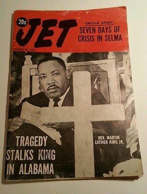 March 25 1965 Jet Magazine Martin Luther King Selma Alabama March 7 Days Crisis
