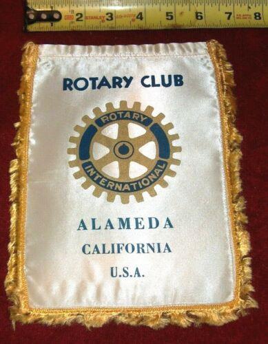 VINTAGE Rotary International Club wall banner flag   ALAMEDA   CA.