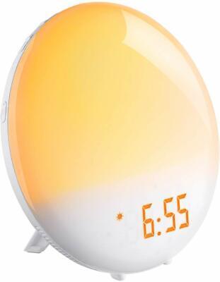 Sunrise Alarm Clock,FM Clock Radio, 20 Brightness, 6 Alarm Sound, Touch Control