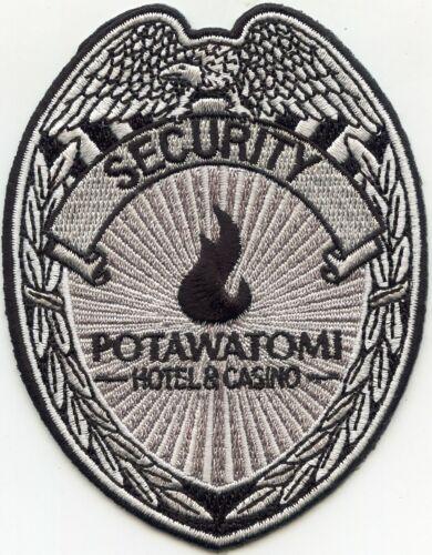 POTAWATOMI HOTEL CASINO Milwaukee WISCONSIN WI CASINO SECURITY police PATCH
