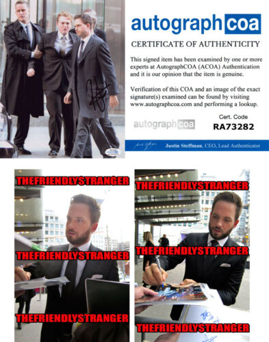 "PATRICK J ADAMS signed Autographed ""SUITS"" 8X10 PHOTO e - PROOF - Mike ACOA COA"