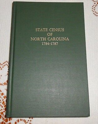 State Census of North Carolina 1784 to 1787 NC by Alvaretta Kenan Register 2d Ed