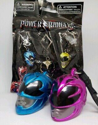 Power Rangers Helmet Collector Clips (Mystery Helmet) Blue and Pink Rangers - Pink Power Ranger Helmet