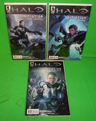 Halo Initiation #1 #2 #3 1-3 Complete Dark Horse Comics Set Xbox Video Game