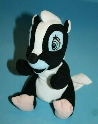 "Disney Plush Bambie Flower the Skunk 7"" Bean Bag Soft Toy Stuffed Animal Small"