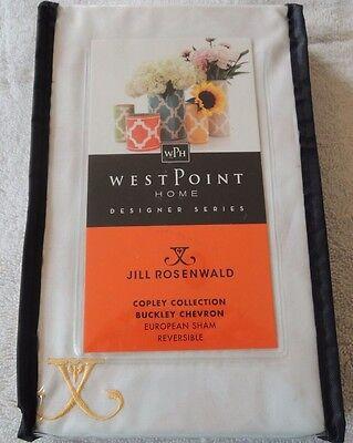 WestPoint Home Jill Rosenwald Copley BUCKLEY CHEVRON  European Sham Reversible