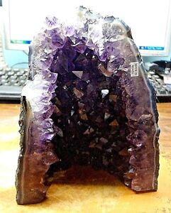 BRAZILIAN AMETHYST  CRYSTAL  CLUSTER GEODE  CATHEDRAL MUSEUM GRADE CRYSTALS