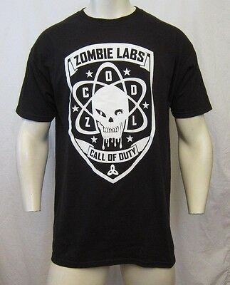 CALL OF DUTY BLACK OPS III ZOMBIE LABS CREW NECK T-SHIRT SIZE​ L BLACK