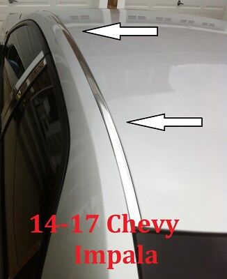 For 2014-2017 CHEVY IMPALA CHROME ROOF TOP TRIM MOLDING KIT