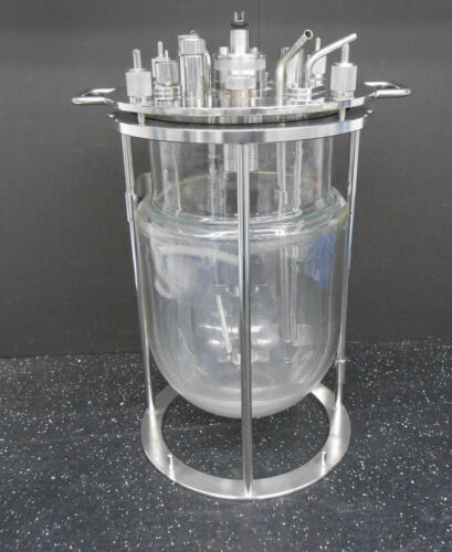 JACKETED LAB REACTOR 10L VESSEL WITH MIXING IMPELLER #1