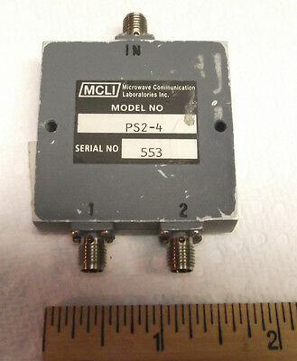 Mcli Ps2-4 Power Divider Combiner 2 Way Sma 0.5 - 2.5 Ghz Rf Used