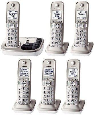 Panasonic KX-TGD220N + 5 KX-TGDA20N Handsets DECT 6.0 Plus Cordless Phone System