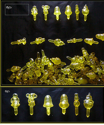 VINTAGE Bag of 100  Gold TOY LIGHT FOR CERAMIC CHRISTMAS TREE  PEG TWIST TOPPERS