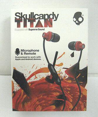 Skullcandy Titan Supreme Sound In Ear Headphones With Mic1  Remote   Travel Bag
