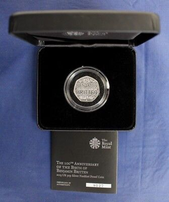 2013 Silver Piedfort Proof 50p coin
