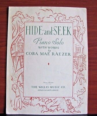 - Hide and Seek by Cora Mae Raezer - 1948 sheet music - Easy Piano Solo