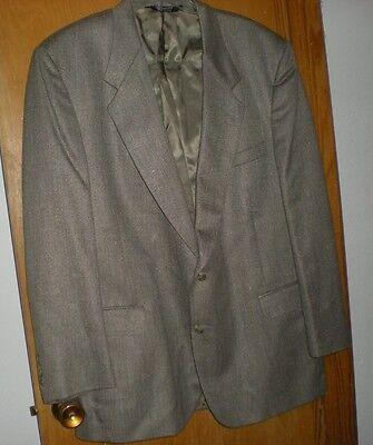 John Alexander Men's Brown Tweed Jacket Size 46