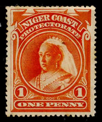 NIGER COAST PROT., BRITISH: 1894 19TH CENTURY CLASSIC ERA STAMP SCOTT #44 SOUND