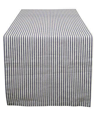 Cotton Table Runner Stripes Blue & White - Blue And White Striped Table Runner