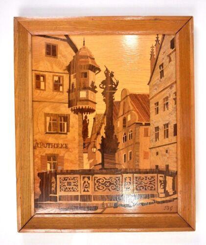 Buchschmid & Gretaux German Marquetry Framed Wood Inlay