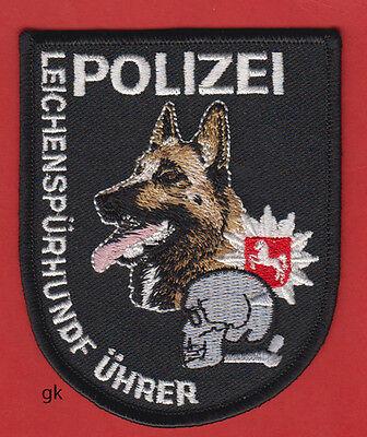 - GERMAN SHEPHERD POLICE CORPSE CADAVER DOG TRACKING SKULL  K9  SHOULDER PATCH