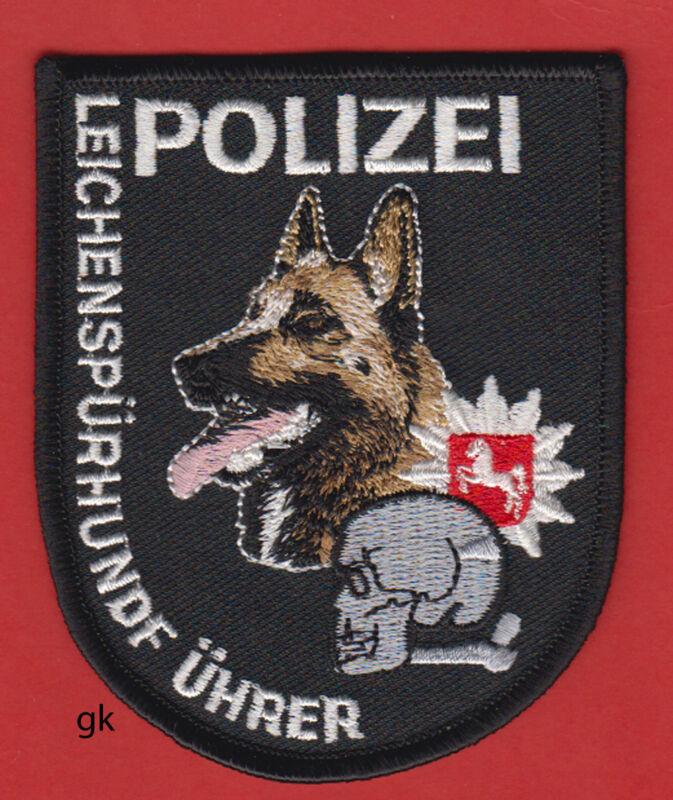 GERMAN SHEPHERD POLICE CORPSE CADAVER DOG TRACKING SKULL  K9  SHOULDER PATCH