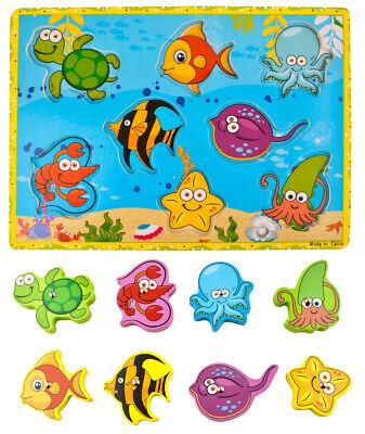 Angelspiel Holz Magnet Fische Magnet Angelspiel  Fischfang Spiel 7796