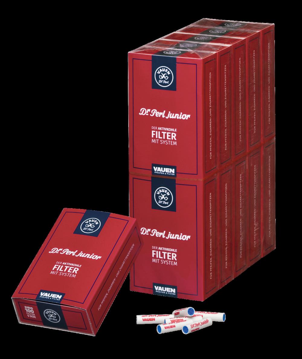 Dr. Perl Filter Junior Jubig Activekohlerfilter 9mm (10 x 100 Stück-Packung)