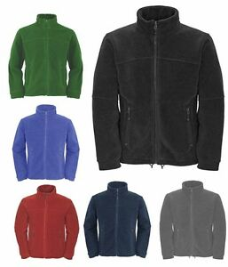Mens-Full-Zip-Classic-Fleece-Jackets-Size-XS-to-4XL-SPORTS-WORK-LEISURE-CASUAL