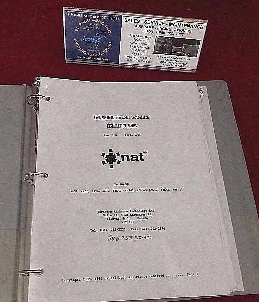 NAT AA90/AMS40 Audio Controller Installation Manual. REV 1.6 $50