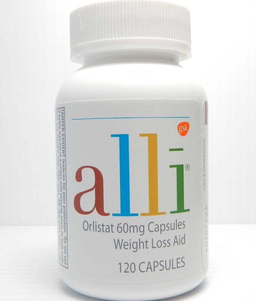 glaxosmithkline Alli Orlistat 120 Capsules Brand Factory ...